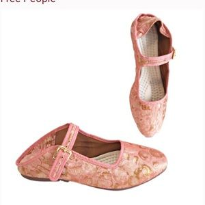 Free People Evie Mary Jane Flat pink gold 36 new 6